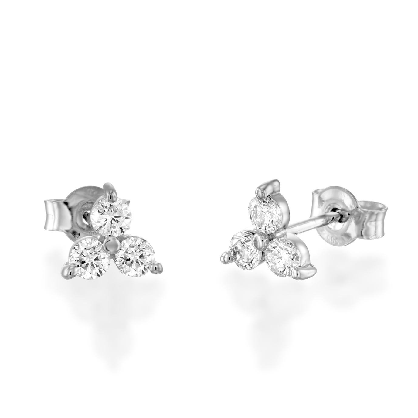 Home Product Diamond Earrings Clover