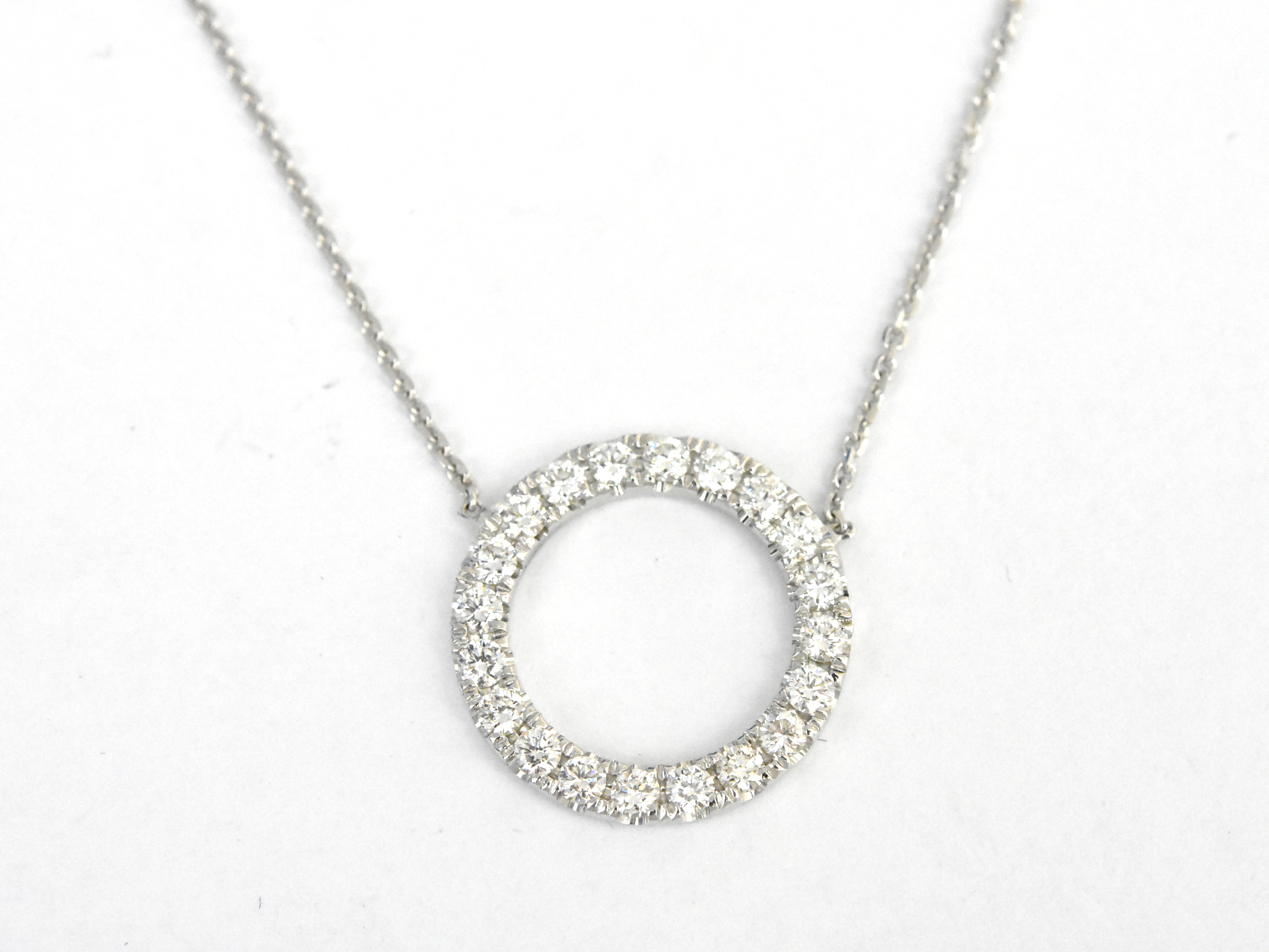 cheap diamond necklace en snowflake birks with cluster sapphire