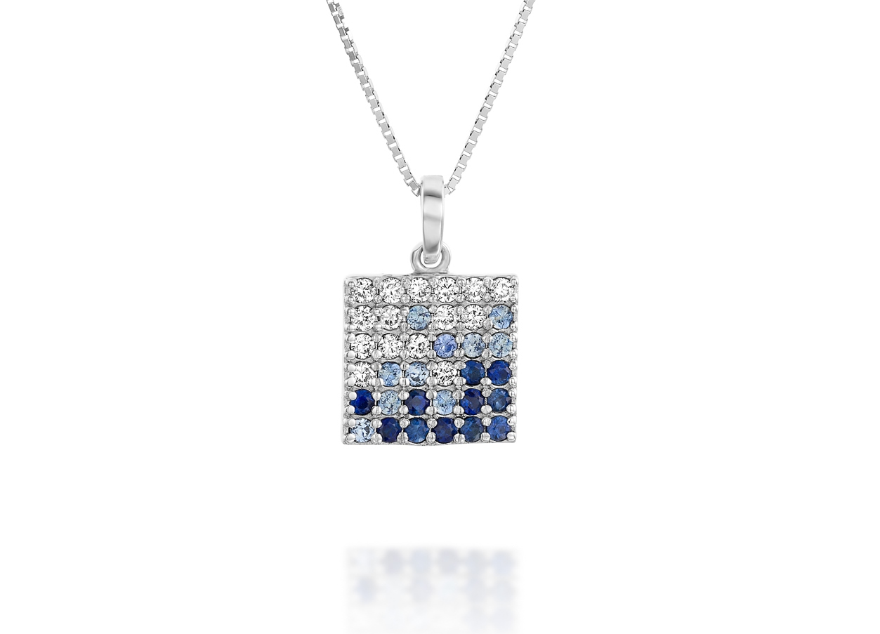 white time sapphire euro sun pendant gold products necklace jewels diamond
