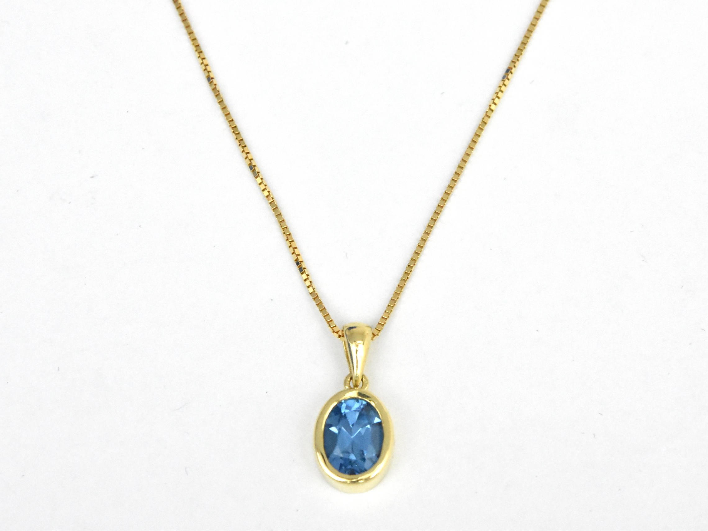 you gold viewing product blue white checkerboard topaz pendant re