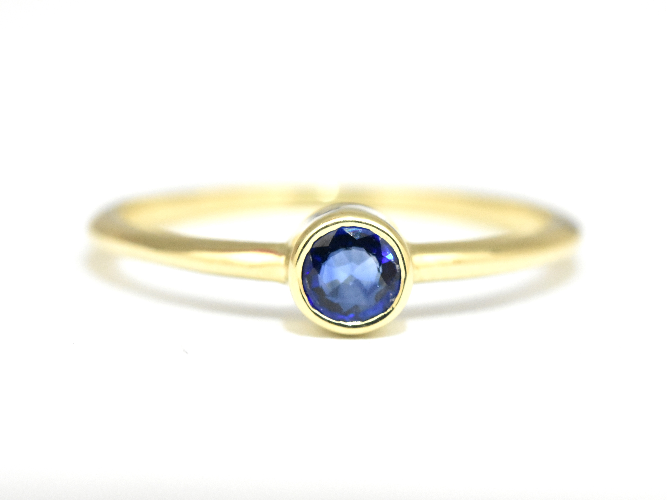 sapphire blue edge designers rings ring cushion diamond eli inverted halo jewels engagement with