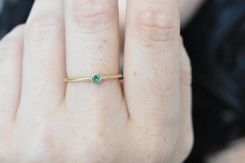 411b0df0c00881 dainty 2.3m emerald gold ring NR-204 ADR-00378-1 · Home » ...