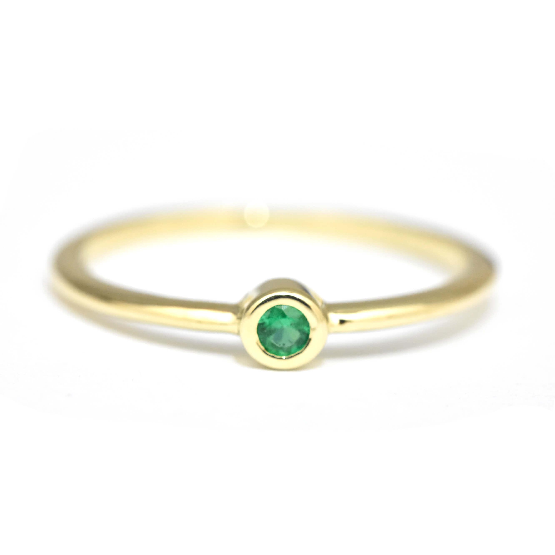 2b03d4a4430986 dainty 2.3m emerald gold ring NR-204 ADR-00378-1