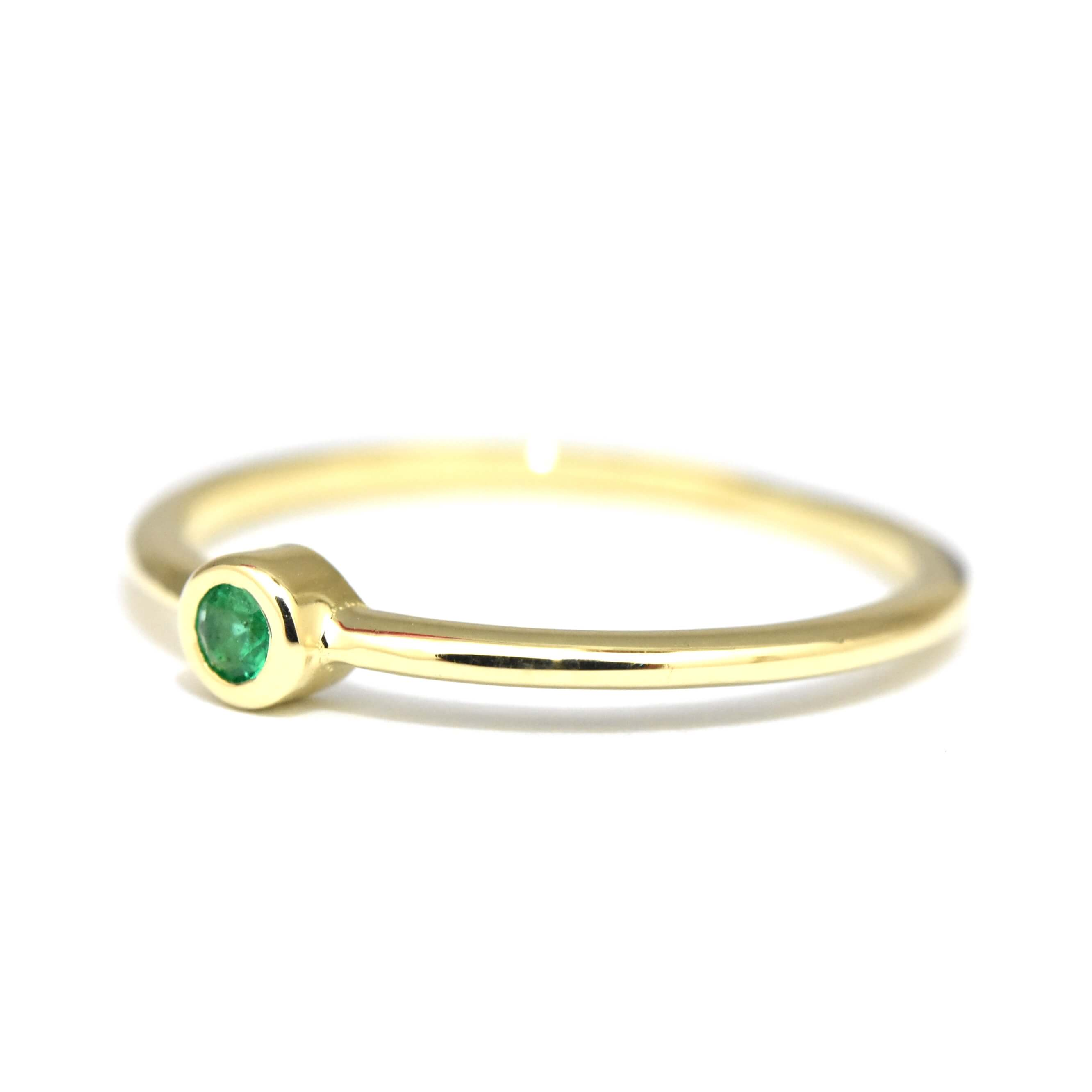 diamondemerald p yellow diamond ring emerald effy gold