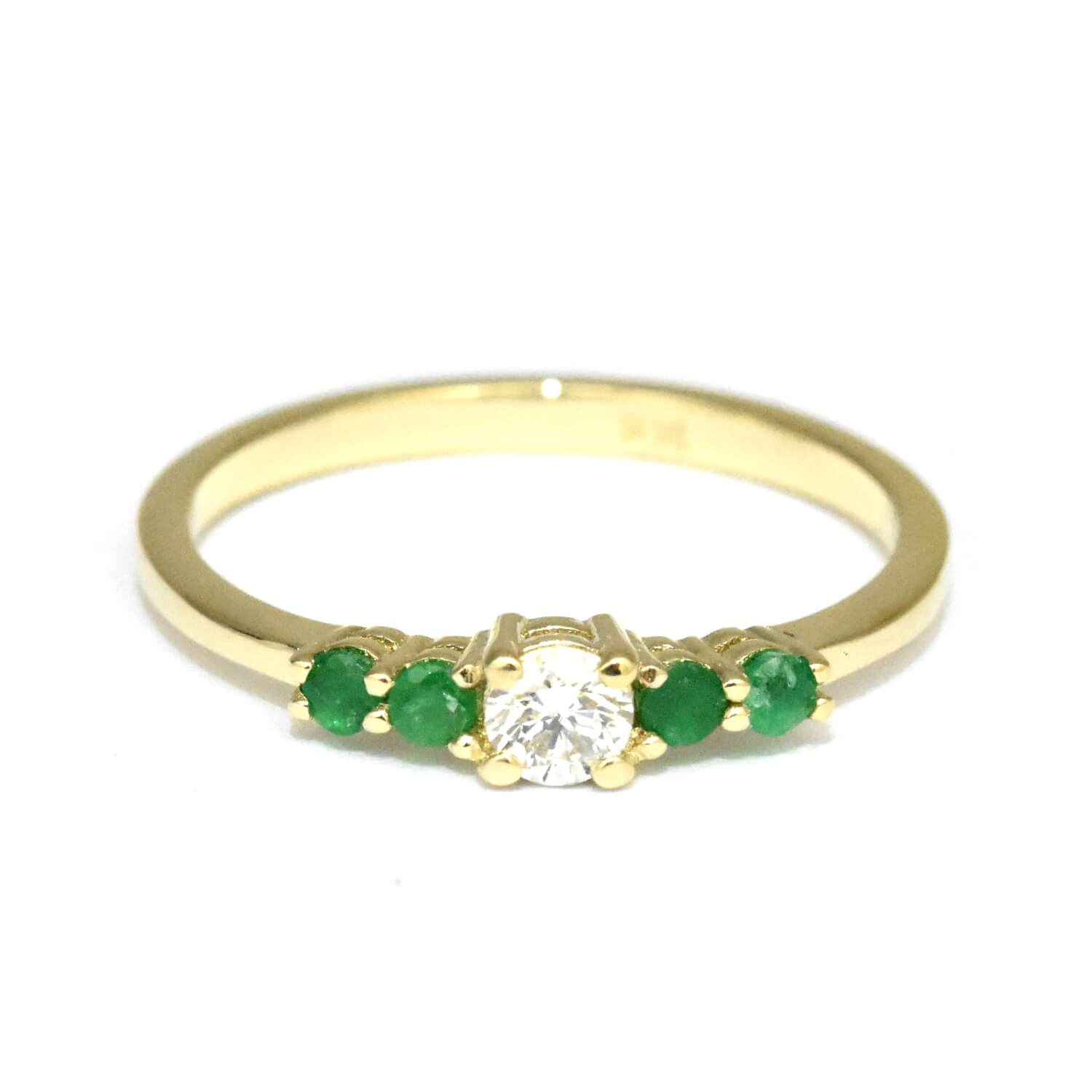 ct silver jewelry in sterling with created ring diamonds emerald